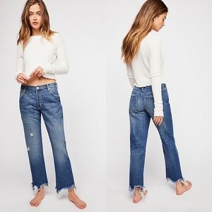 FREE PEOPLE Maggie Mid-Rise Straight-Leg Jeans
